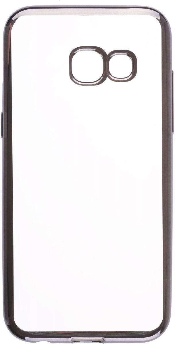 Skinbox 4People Silicone Chrome Border чехол для Samsung Galaxy A3 (2017), Dark Silver2000000131863Чехол-накладка Skinbox 4People Silicone Chrome Border для Samsung Galaxy A3 (2017) обеспечивает надежную защиту корпуса смартфона от механических повреждений и надолго сохраняет его привлекательный внешний вид. Накладка выполнена из высококачественного силикона, плотно прилегает и не скользит в руках. Чехол также обеспечивает свободный доступ ко всем разъемам и клавишам устройства.