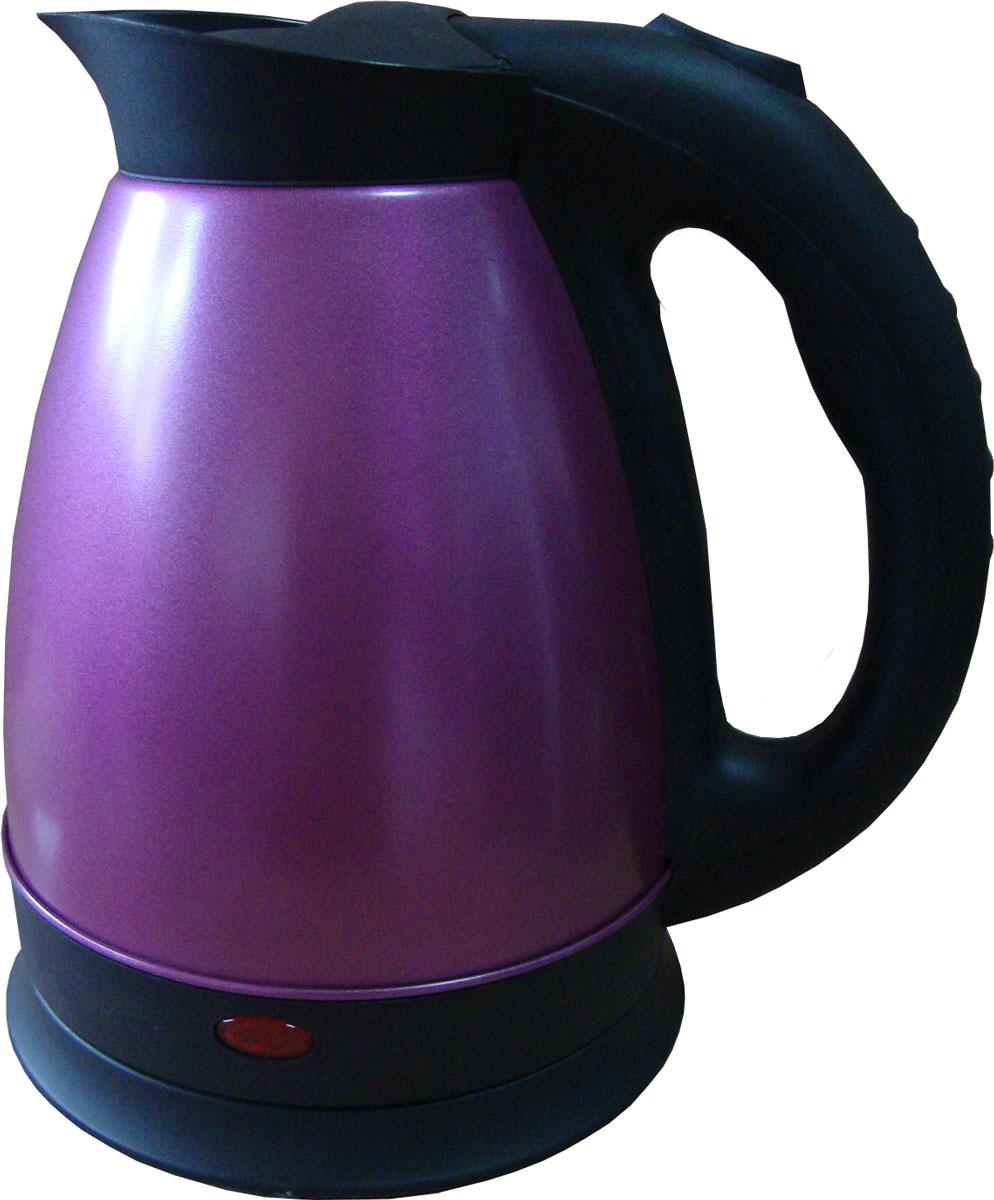 Irit IR-1326, Purple электрический чайник79 02094Электрический чайник Irit IR-1326 прост в управлении и долговечен в использовании. Корпус изготовлен из высококачественных материалов. Мощность 1500 Вт быстро вскипятит 1,8 литра воды. Беспроводное соединение позволяет вращать чайник на подставке на 360°. Для обеспечения безопасности при повседневном использовании предусмотрены функция автовыключения, а также защита от включения при отсутствии воды.