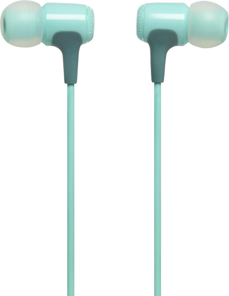 JBL E15, Teal наушникиJBLE15TELВнутриканальные наушники JBL E15 - это стиль и качество, сведенные вместе. Несмотря на компактный дизайн, их 8,6-мм мембраны обеспечивают полный спектр фирменного звука JBL. Изогнутые вкладыши и амбушюры нескольких размеров обеспечивают удобную посадку и комфорт для продолжительного слушания музыки, где бы вы ни были - на работе, в транспорте или просто в городе. Дополнительные функции, которые делают E15 идеальным выбором, - это неспутывающийся кабель с тканевой оплеткой, легкая конструкция, удобный чехол для хранения и однокнопочный универсальный пульт управления. Доступные в различных выразительных цветах, эти наушники станут ярким аксессуаром в вашей жизни.