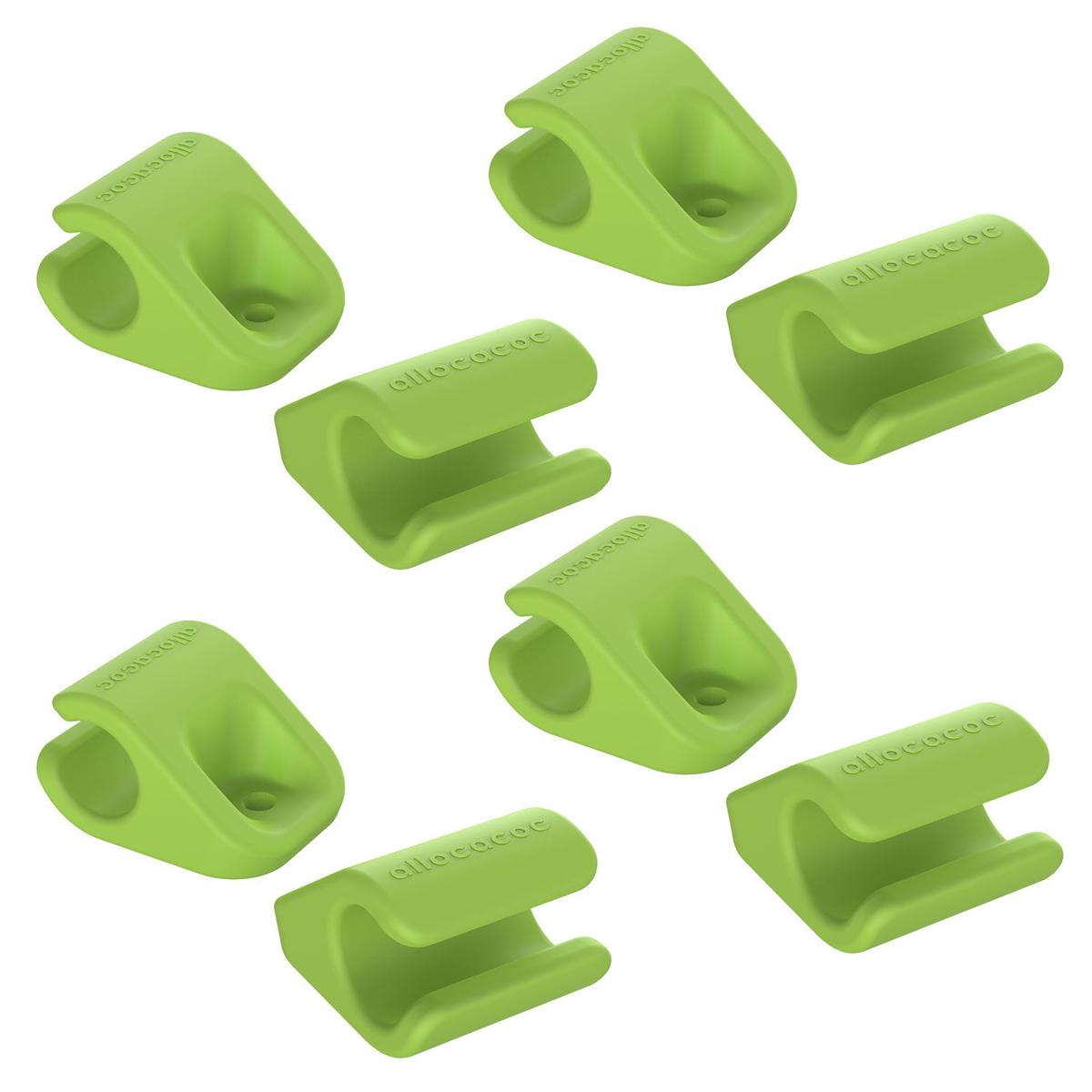 Allocacoc CableFix, Green держатель для кабеля, 8 шт0004GN/CBLFIXДержатель для проводов Allocacoc CableFix поможет не только навести порядок на вашем рабочем столе, но и сделать работу за ним более комфортной. Можно прикрепить к поверхностям разными способами: от липкой ленты до самореза. Липкие пластинки входят в комплект. Благодаря таким держателям провода легко убираются и надежно фиксируются в нужном вам положении и месте.Совместимость: кабели диаметром от 4 мм до 10 мм