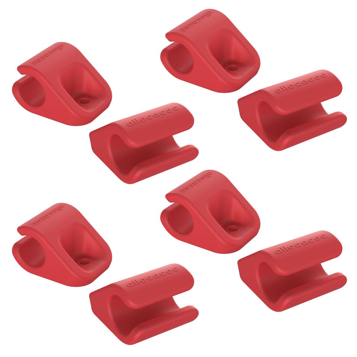 Allocacoc CableFix, Red держатель для кабеля, 8 шт0004RD/CBLFIXДержатель для проводов Allocacoc CableFix поможет не только навести порядок на вашем рабочем столе, но и сделать работу за ним более комфортной. Можно прикрепить к поверхностям разными способами: от липкой ленты до самореза. Липкие пластинки входят в комплект. Благодаря таким держателям провода легко убираются и надежно фиксируются в нужном вам положении и месте.Совместимость: кабели диаметром от 4 мм до 10 мм