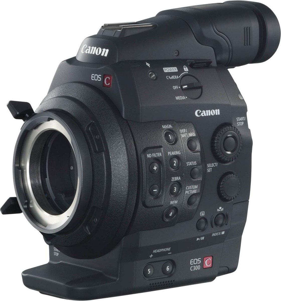 Canon EOS C300 PL цифровая кинокамераEOS-C300-PLПрофессиональная камера Canon EOS C300 PL сочетает в себе надежную технологию видеосъемки и богатейший опыт в создании и использовании объективов с творческим подходом Canon. Сменные объективы дают ни с чем не сравнимую свободу для того, чтобы рассказать любую историю.Матрица CMOS Super 35-мм 8,3 МП, разработанная и произведенная компанией Canon специально для видеосъемки, позволяет осуществлять 3-цветную RGB обработку для записи в формате Full HD. Технология матрицы Canon позволяет создавать изображения в высоком разрешении, с низким уровнем шумов, с уменьшенной вероятностью возникновения дефекта запаздывания изображения (rolling shatter) и низким энергопотреблением. Она также дает обычные преимуществами большой матрицы, к которым относится красивая съемка с малой глубиной резкости.PL-крепление камеры EOS C300 отвечает стандартам, принятым в отрасли. Оно совместимо с множеством взаимозаменяемых объективов, уже используемых в профессиональном кинопроизводстве, а также с собственными объективами Canon. Три электронных встроенных ND-фильтра позволяют сделать съемку более разнообразной.Камера EOS C300 PL исключительно компактная, базовые компоненты для съемки весят всего 1869 г (без объектива). Возможность отсоединения ручки, рукоятки и поворотной панели управления обеспечивает максимальную маневренность. Ряд деталей корпуса с защитой от брызг выполнены из сплава магния для дополнительной прочности и надежности.Запись готовых для передачи материалов в виде файлов MPEG-2 MXF со скоростью 50 Мбит/с (4:2:2) на две карты памяти CF с возможностью использования функций эстафетной записи или одновременной записи на обе карты. Промышленные стандарты выхода включают HD-SDI, а также временной код, разъемы синхронизации Genlock и Synch для съемки на несколько камер одновременно.Широкие возможности индивидуальной настройки изображения включают встроенную функцию логарифмической кривой гамма Canon Log, позволяющую получать изображения