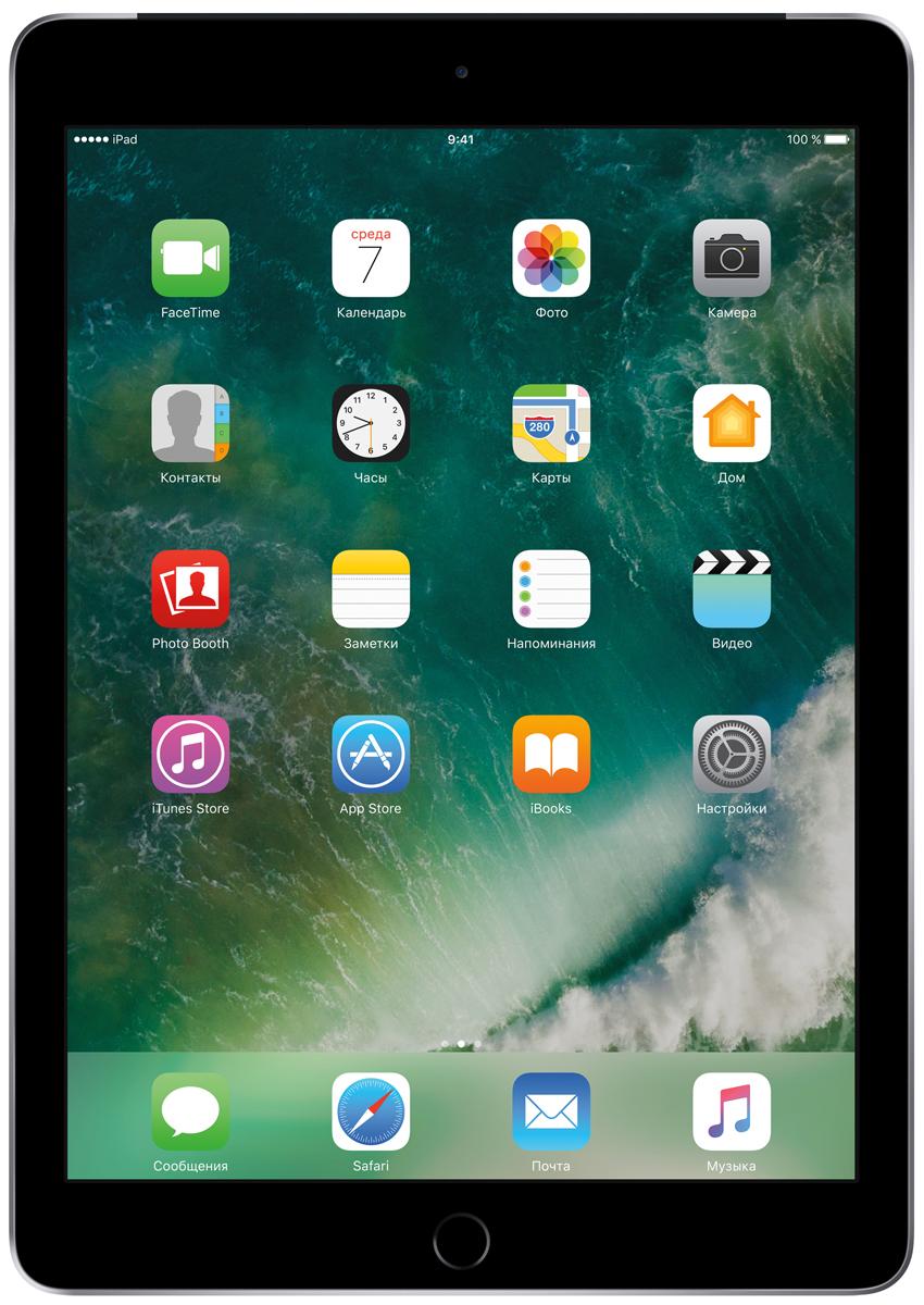 Apple iPad 9.7 Wi-Fi + Cellular 128GB, Space GreyMP262RU/AДелайте проекты, листайте сайты, играйте и учитесь. У iPad для этого есть великолепный дисплей, высокая производительность и приложения для ваших любимых занятий. Где хотите. Легко и волшебно.Фотографии, шоппинг, презентации - на ярком 9,7-дюймовом дисплее Retina всё выглядит живо, реалистично и невероятно детально.Производительность, необходимую для быстрой и плавной работы приложений, обеспечивает 64-битный процессор A9. Открывайте интерактивные обучающие приложения, играйте в игры со сложной графикой и пользуйтесь двумя приложениями одновременно. При этом ваше устройство будет работать без подзарядки до 10 часов.Все приложения для iPad создаются с учётом его размеров и производительности. И в App Store их очень много. Вы обязательно найдёте то, что вам нужно.Ваш отпечаток пальца - это идеальный пароль, который невозможно угадать или забыть. Технология Touch ID позволяет мгновенно разблокировать iPad и защитить личные данные в приложениях. Вы также можете использовать её для покупок через Apple Pay в приложениях и на cайтах.Снимать фото и видео на iPad проще простого. Его 8-мегапиксельная камера позволяет делать чёткие и яркие фотографии и записывать HD-видео 1080p, которые затем можно отредактировать прямо на iPad с помощью Фото, iMovie или вашего любимого приложения из App Store. А фронтальная HD-камера FaceTime идеальна для видеозвонков и селфи.iPad идеально взаимодействует с другими устройствами. Вы можете начать письмо на iPhone и закончить его на iPad. Или скопировать картинку, видео и текст на iPad, а затем вставить их на Mac. А для моментальной передачи файлов между устройствами по беспроводной сети удобно пользоваться функцией AirDrop.iPad создан для жизни онлайн. Куда бы вы ни отправились, высокоскоростной стандарт Wi-Fi 802.11ac обеспечит пропускную способность до 866 Мбит/с. Модели Wi-Fi + Cellular работают с 4G LTE во всём мире. А с картой Apple SIM можно легко подключаться к беспроводным сетям