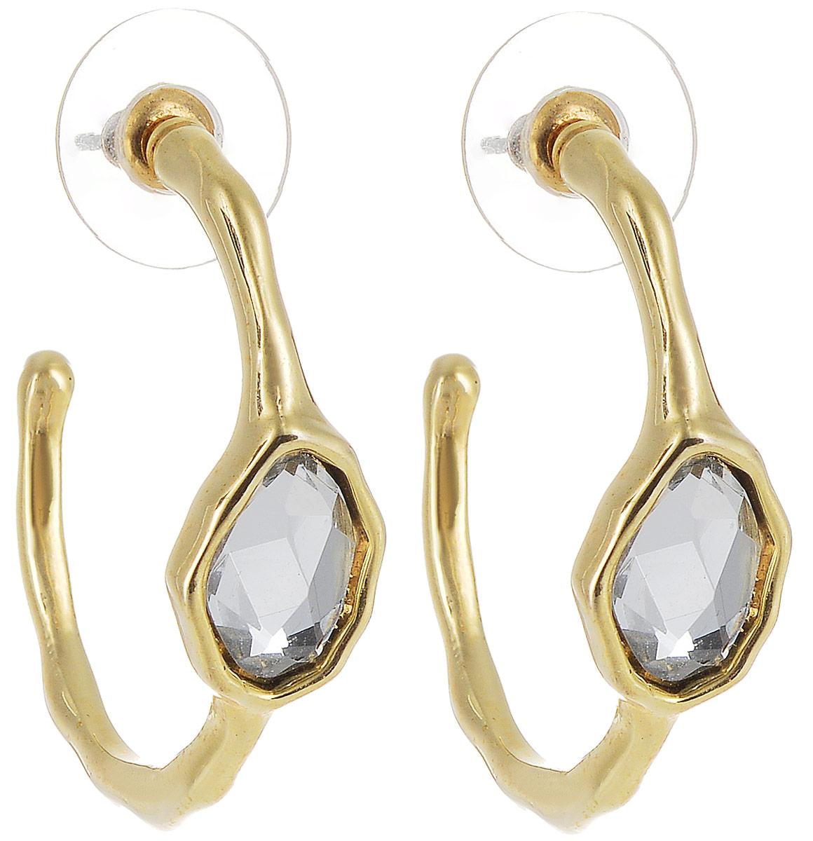Серьги Art-Silver, цвет: золотой. MS5147-540Серьги с подвескамиСтильные серьги Art-Silver выполнены из бижутерного сплава. Серьги оформлены оригинальными декоративными вставками. Серьги выполнены с замками-гвоздиками. Такие серьги будут ярким дополнением вашего образа.