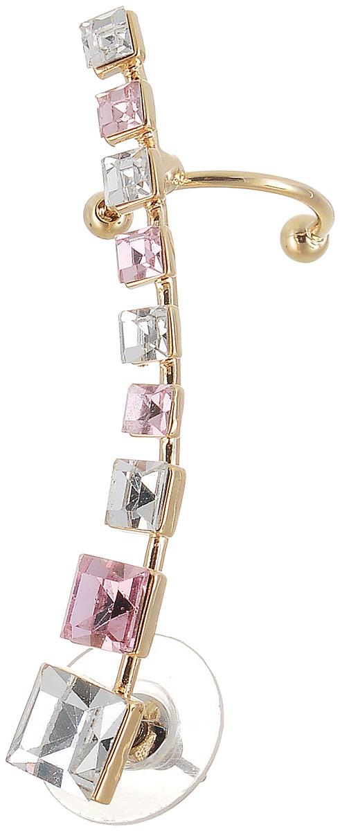 Кафф Art-Silver, цвет: золотой, розовый. СРГР30-400КаффыОригинальный кафф Art-Silver выполнен из бижутерного сплава. Модель оформлена декоративными стразами.Кафф завершит ваш образ и послужит отличным подарком для ценительницы необычных украшений.
