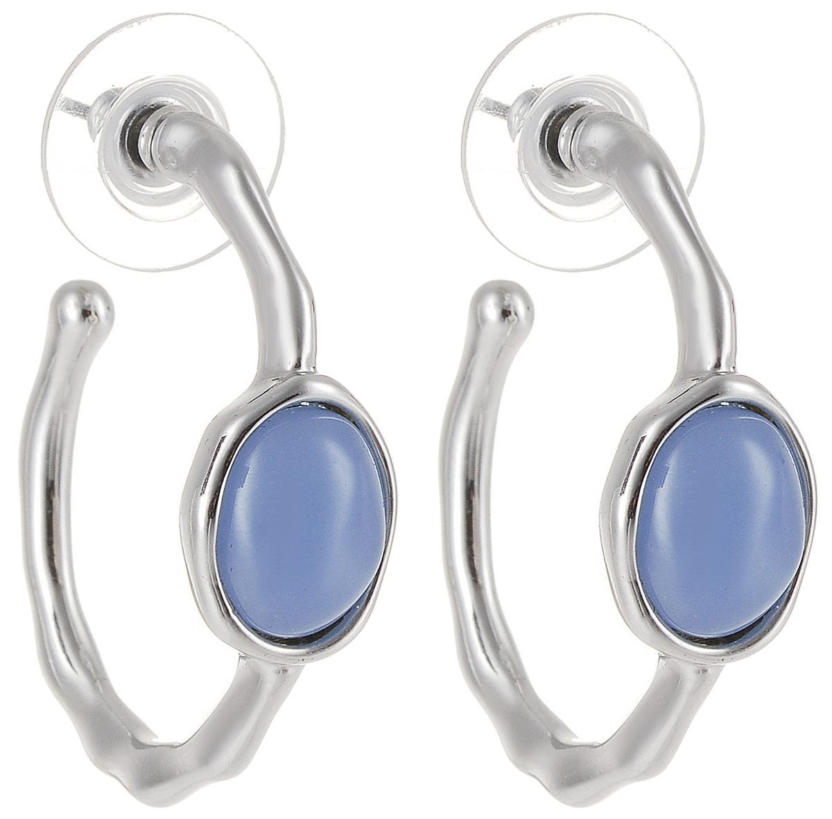 Серьги Art-Silver, цвет: серебряный. 5078-405Серьги с подвескамиСтильные серьги Art-Silver выполнены из бижутерного сплава. Серьги оформлены оригинальными декоративными вставками. Серьги выполнены с замками-гвоздиками. Такие серьги будут ярким дополнением вашего образа.