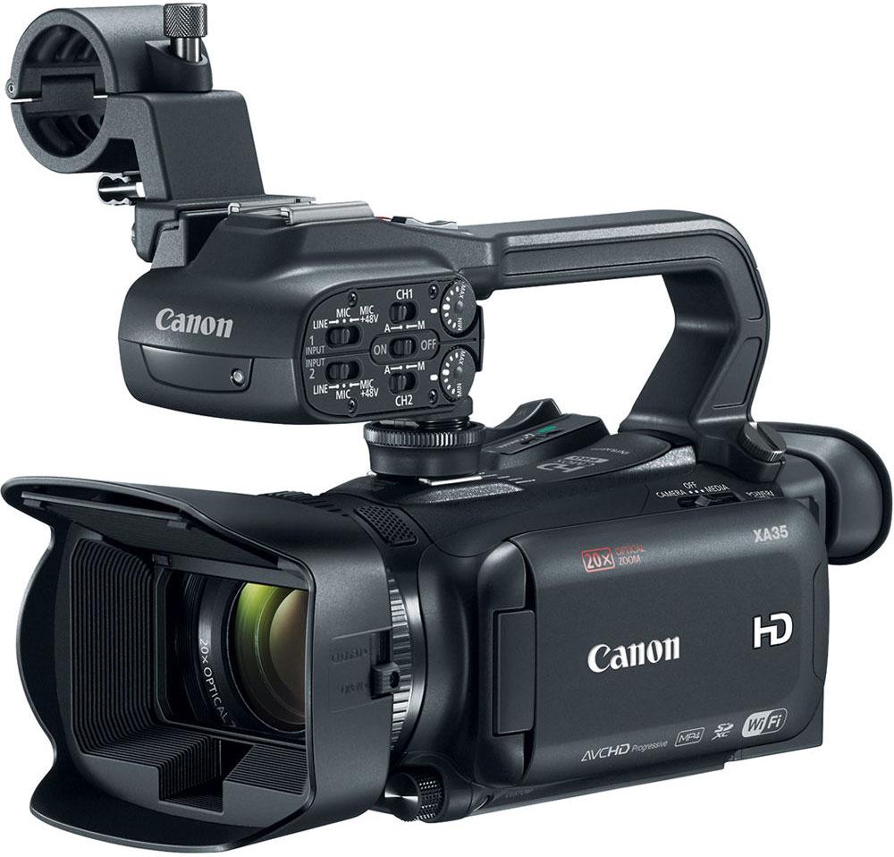 Canon XA35, Black профессиональная видеокамера1003C003Компактная многофункциональная видеокамера Canon XA35 имеет широкий динамический диапазон и разъем HD/SD-SDI, что отвечает всем требованиям профессиональной мобильной журналистики и корреспондентов, которым необходимо выполнять съемку незаметно, особенно в сложных условиях высококонтрастного освещения.Снимайте видеоролики превосходного качества благодаря универсальному широкоугольному объективу 26,8 мм камеры XA35. 20x зум позволяет приблизиться к объекту съемки, а динамический оптический стабилизатор изображения компенсирует сотрясения в 5 направлениях, обеспечивая высокую плавность изображения. 8-лепестковая ирисовая диафрагма с максимальным значением f/1.8 и технология EDM позволяют достичь приятного эффекта боке.Новый датчик Canon HD CMOS Pro с эффективным количеством пикселей 2,91 МП позволяет получать изображения в формате Full HD превосходного качества. Благодаря повышенной чувствительности и улучшенному отношению сигнал/шум изображения, особенно снятые в условиях слабого освещения, выглядят более резкими и с более низким уровнем шума.Две новые настройки изображения позволяют получать еще более впечатляющие результаты. Режим Wide DR обеспечивает динамический диапазон 600%, позволяя получать яркие высококонтрастные изображения с сохранением деталей в освещенных и затененных областях, благодаря чему изображения не требуют послесъемочной обработки. Режим приоритета светов позволяет создавать видеоролики с более естественными тонами, насыщенным цветом и высокой детализацией, особенно в областях с высокой яркостью - идеальный вариант для сцен с ярким небом и отражающими поверхностями.Несмотря на компактный размер XA35 обеспечивает высококачественный контроль. Удобный в использовании сенсорный экран OLED с разрешением 1,23 млн точек обеспечивает быстрое реагирование и высокую четкость, контрастность и цветопередачу изображения по сравнению с ЖК-экраном. Электронный видоискатель с диагональю 0,61 см (0,24) и разр