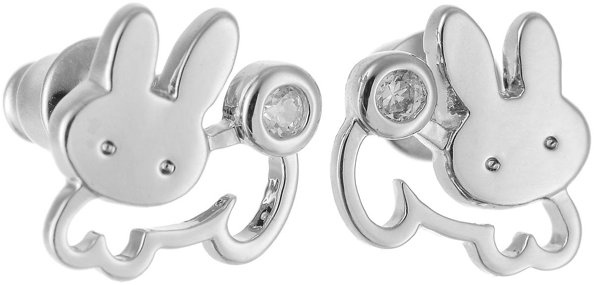 Серьги Art-Silver, цвет: серебряный. 01973-338Пуссеты (гвоздики)Стильные серьги Art-Silver выполнены из бижутерного сплава. Серьги оформлены оригинальными декоративными вставками. Серьги выполнены с замками-гвоздиками. Такие серьги будут ярким дополнением вашего образа.