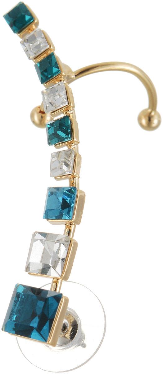 Кафф Art-Silver, цвет: золотой, синий. СРГГ30-400КаффыОригинальный кафф Art-Silver выполнен из бижутерного сплава. Модель оформлена декоративными стразами.Кафф завершит ваш образ и послужит отличным подарком для ценительницы необычных украшений.