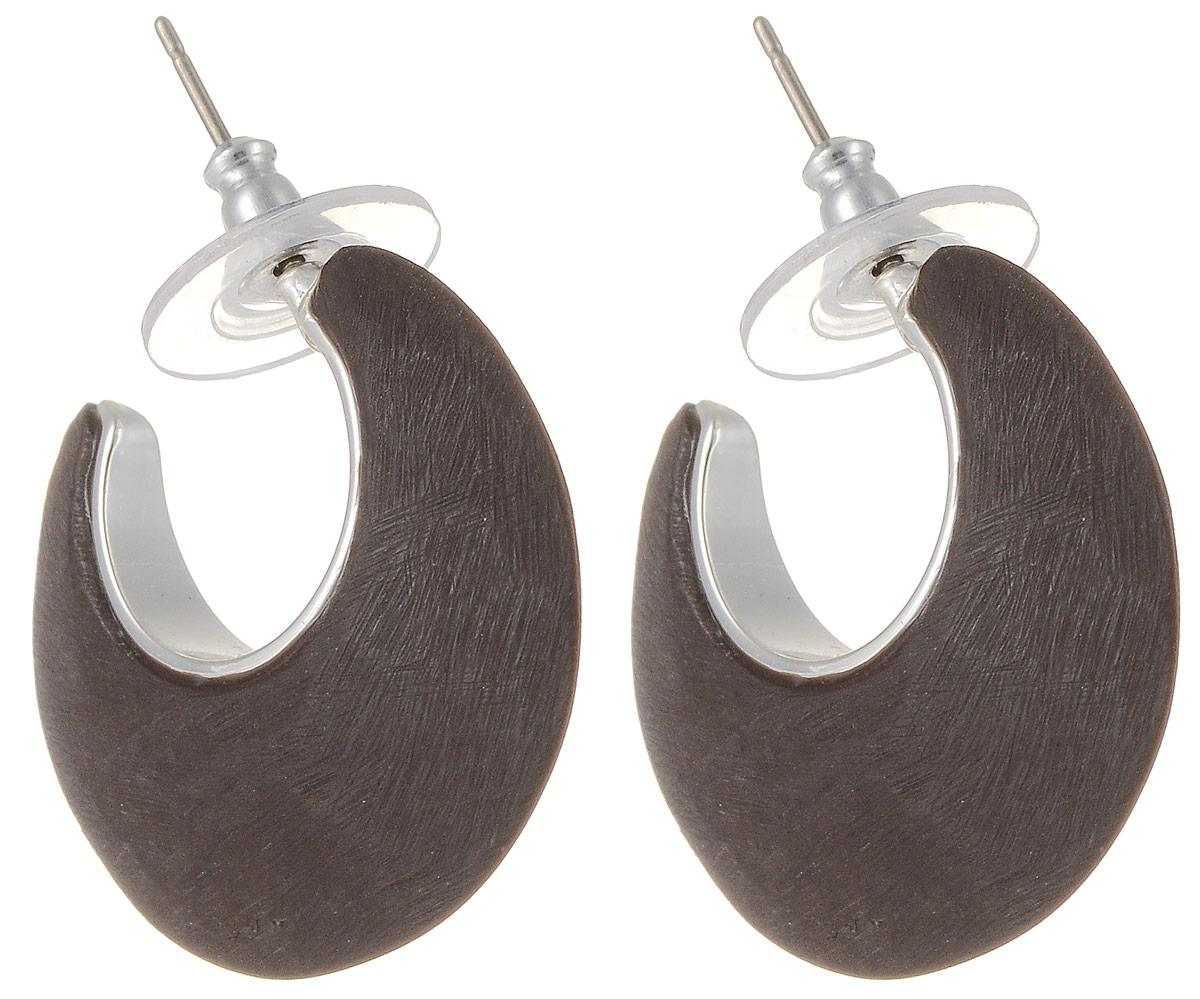 Серьги Art-Silver, цвет: коричневый. М509-365Пуссеты (гвоздики)Стильные серьги Art-Silver выполнены из бижутерного сплава. Серьги выполнены с замками-гвоздиками. Такие серьги будут ярким дополнением вашего образа.