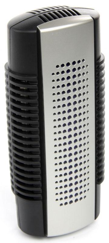 Zenet XJ-210 ионизатор-очиститель воздухаZENET XJ-210В конструкцию очистителя воздуха Zenet XJ-210входит УФ-лампа, что, в совокупности с применением активного кислорода, позволяет не только очищать, но и стерилизовать воздух. Производительность работы очистителя увеличивается благодаря наличию встроенного вентилятора.В корпус прибора встроена электровилка, что позволяет устанавливать его в непосредственной близости от стены, и, таким образом, очиститель не занимает в помещении много места. Стоит отметить и экономичность модели, которая расходует при своей работе всего 6 Ватт.Чтобы удалить из воздуха взвешенные частицы и молекулы запахов, в конструкцию модели входят статические фильтры. Эти фильтры могут быть легко демонтированы и очищены, а затем использованы снова.Передняя крышка очистителя является легко открывающейся, что позволяет заменять УФ-лампу или очищать прибор от пыли.Основные преимущества использования данной модели:Экономия места в помещении, благодаря возможности установить очиститель в непосредственной близости от стеныФункция освежения и стерилизации воздухаВозможность улавливать не только механические частицы, содержащиеся в воздухе, но и запахиВысокая производительность, благодаря наличию встроенного вентилятораВ ночное время прибор подсвечивается УФ-лампой, свет которой проникает через предусмотренное в крышке очистителя окошко