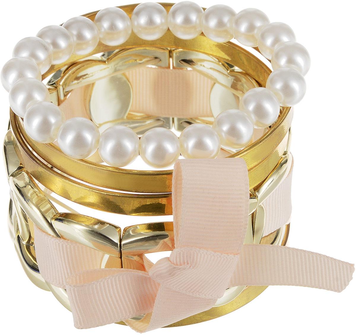 Браслет Art-Silver, цвет: золотой. 05806559-332Глидерный браслетВосхитительный браслет Art-Silver выполнен из бижутерного сплава. Изделие состоит из нескольких разных декоративных элементов.Стильный браслет Art-Silver поможет дополнить любой образ и привнести в него завершающий яркий штрих.