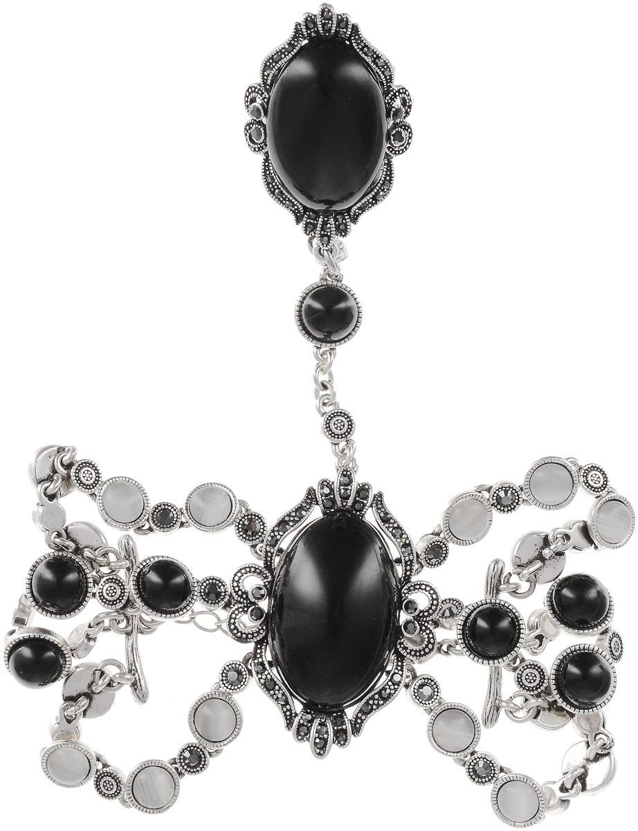 Комплект украшений женский Art-Silver, цвет: серебряный. 065588-002-2873. Размер 16,539859|Пуссеты (гвоздики)Бижутерный сплав, куб.циркон, полимер, кош.глаз.