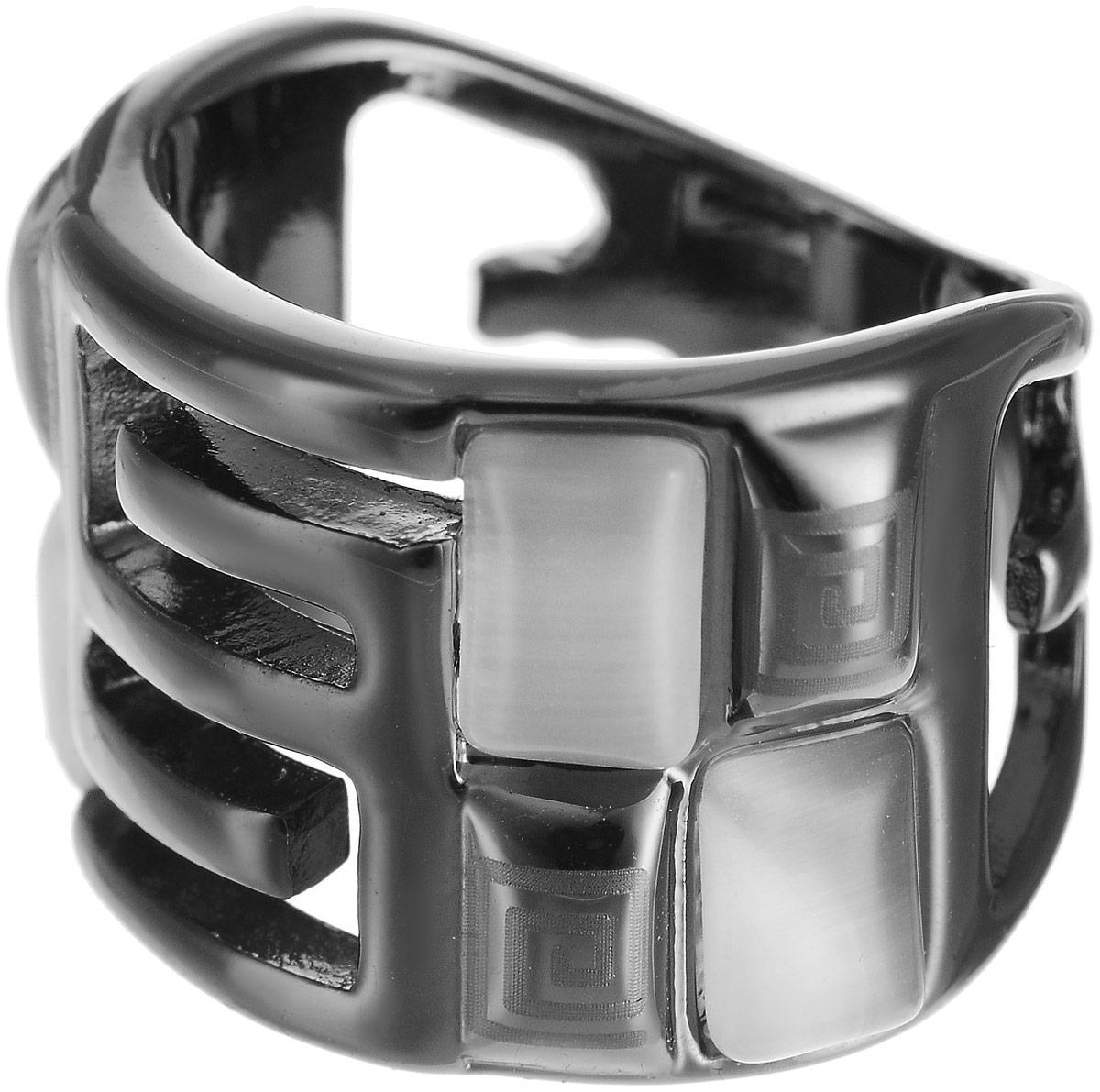 Кольцо Art-Silver, цвет: черный. 068018-701-616. Размер 16,5Коктейльное кольцоОригинальное кольцо Art-Silver выполнено из бижутерного сплава с гальваническим покрытием. Кольцо украшено декоративными вставками.Элегантное кольцо Art-Silver превосходно дополнит ваш образ и подчеркнет отменное чувство стиля своей обладательницы.