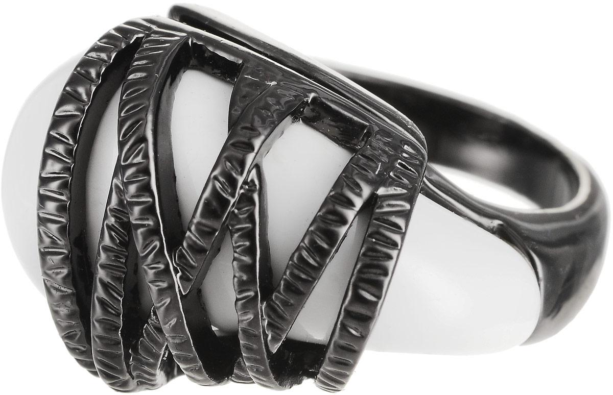 Кольцо Art-Silver, цвет: черный. 272-648. Размер 17Коктейльное кольцоОригинальное кольцо Art-Silver выполнено из бижутерного сплава с гальваническим покрытием. Кольцо украшено декоративными вставками.Элегантное кольцо Art-Silver превосходно дополнит ваш образ и подчеркнет отменное чувство стиля своей обладательницы.