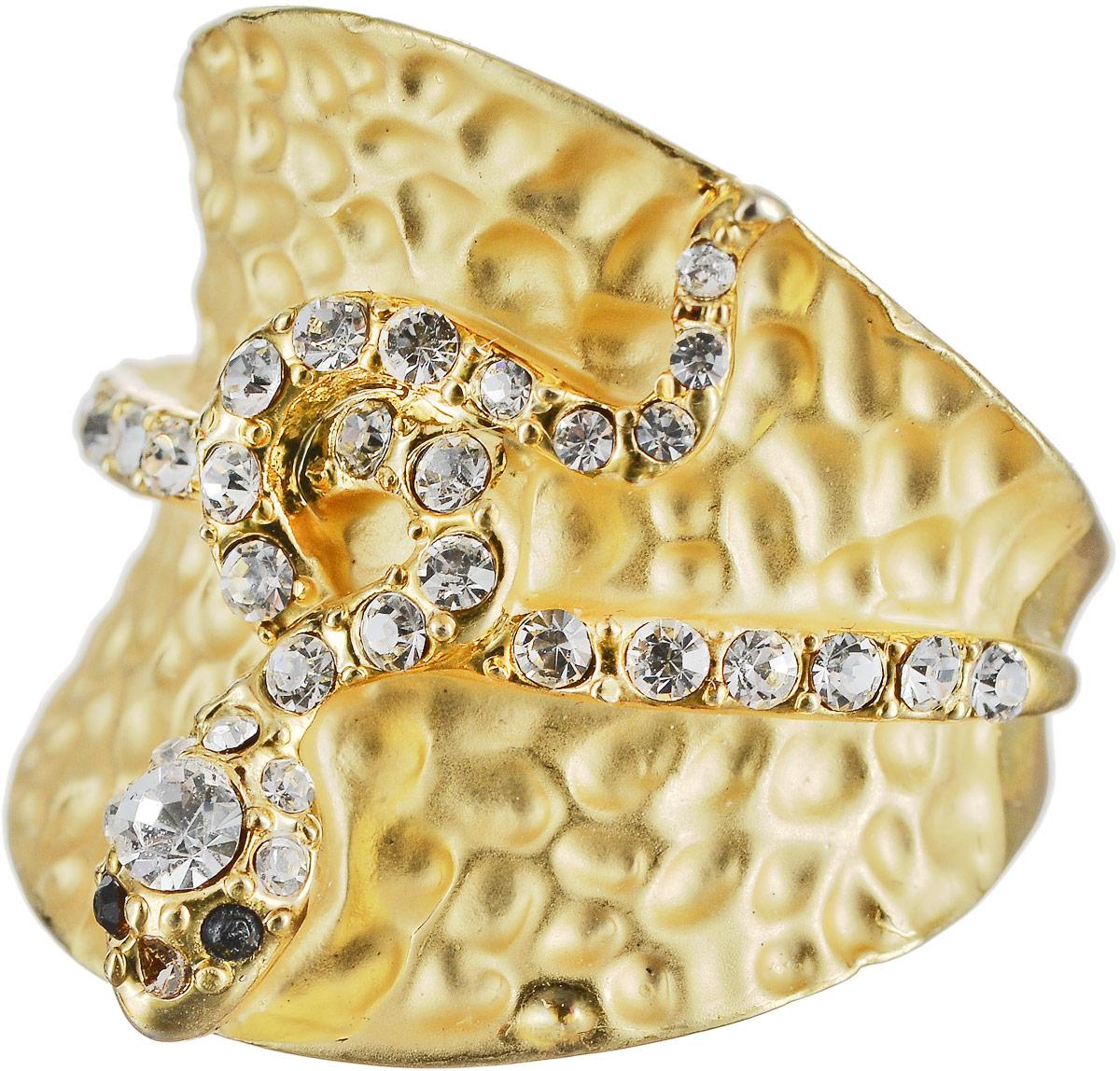 Кольцо Art-Silver, цвет: золотой. М341-540. Размер 16,5Коктейльное кольцоОригинальное кольцо Art-Silver выполнено из бижутерного сплава с гальваническим покрытием. Кольцо украшено декоративными вставками.Элегантное кольцо Art-Silver превосходно дополнит ваш образ и подчеркнет отменное чувство стиля своей обладательницы.