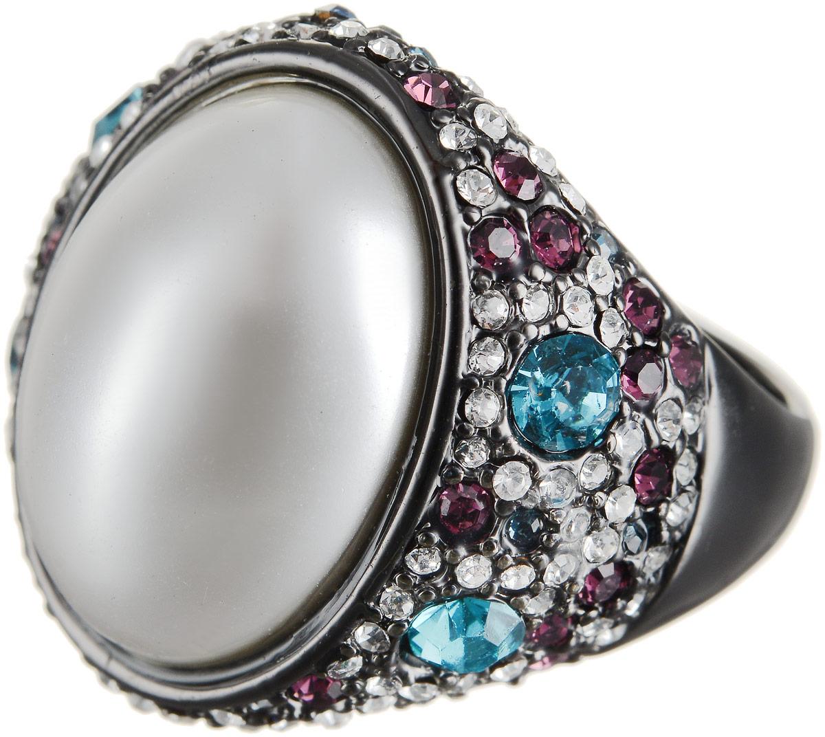 Кольцо Art-Silver, цвет: черный, перламутровый. 066079-601-1202. Размер 17,5Коктейльное кольцоОригинальное кольцо Art-Silver выполнено из бижутерного сплава с гальваническим покрытием. Кольцо украшено декоративными вставками.Элегантное кольцо Art-Silver превосходно дополнит ваш образ и подчеркнет отменное чувство стиля своей обладательницы.