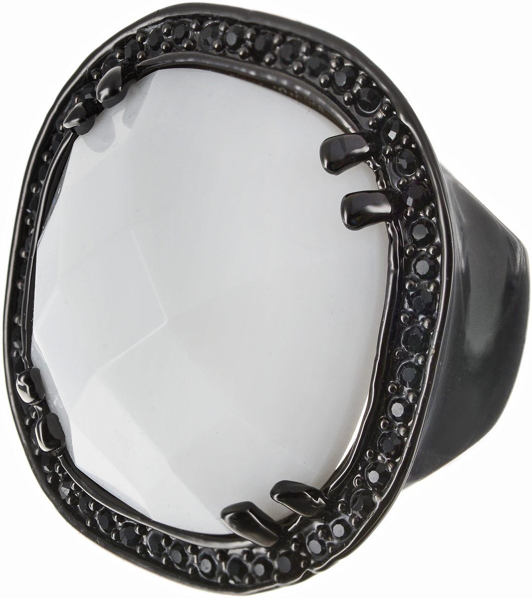 Кольцо Art-Silver, цвет: черный, белый. 360-1283. Размер 18Коктейльное кольцоОригинальное кольцо Art-Silver выполнено из бижутерного сплава с гальваническим покрытием. Кольцо украшено декоративными вставками.Элегантное кольцо Art-Silver превосходно дополнит ваш образ и подчеркнет отменное чувство стиля своей обладательницы.