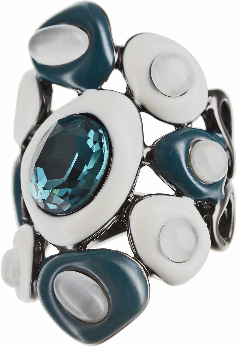 Кольцо Art-Silver, цвет: черный, белый, бирюзовый. 066760-1-850. Размер 16,5Коктейльное кольцоОригинальное кольцо Art-Silver выполнено из бижутерного сплава с гальваническим покрытием. Кольцо украшено декоративными вставками.Элегантное кольцо Art-Silver превосходно дополнит ваш образ и подчеркнет отменное чувство стиля своей обладательницы.