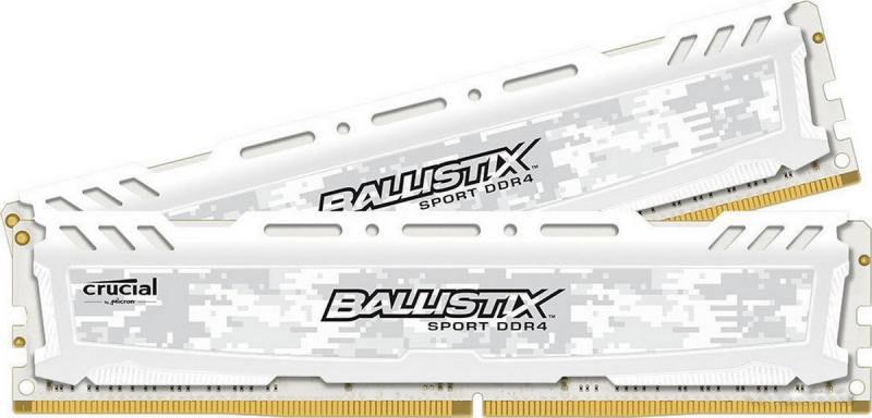Crucial Ballistix Sport LT DDR4 32GB 2x16GB 2400МГц, White модуль оперативной памятиBLS2C16G4D240FSCКомплект модулей оперативной памяти Crucial Ballistix Sport LT типа DDR4 обеспечивает увеличенную рабочую частоту (по сравнению с предыдущем поколением) при сниженном тепловыделении и экономном энергопотреблении. Благодаря низкому напряжению (1,2 В), снижается потребление энергии, что обеспечивает отсутствие нагрева и бесшумную работу ПК. Теплоотвод выполнен из чистого алюминия, что ускоряет рассеяние тепла.Объем памяти 32 ГБ позволит свободно работать со стандартными, офисными и профессиональными ресурсоемкими программами, а также современными требовательными играми. Работа осуществляется при тактовой частоте 2400 МГц и пропускной способности, достигающей до 19200 Мб/с, что гарантирует качественную синхронизацию и быструю передачу данных, а также возможность выполнения множества действий в единицу времени. Параметры тайминга 16-16-16 гарантируют быструю работу системы. Имеется поддержка XMP 2.0 для удобного разгона в автоматическом режиме.