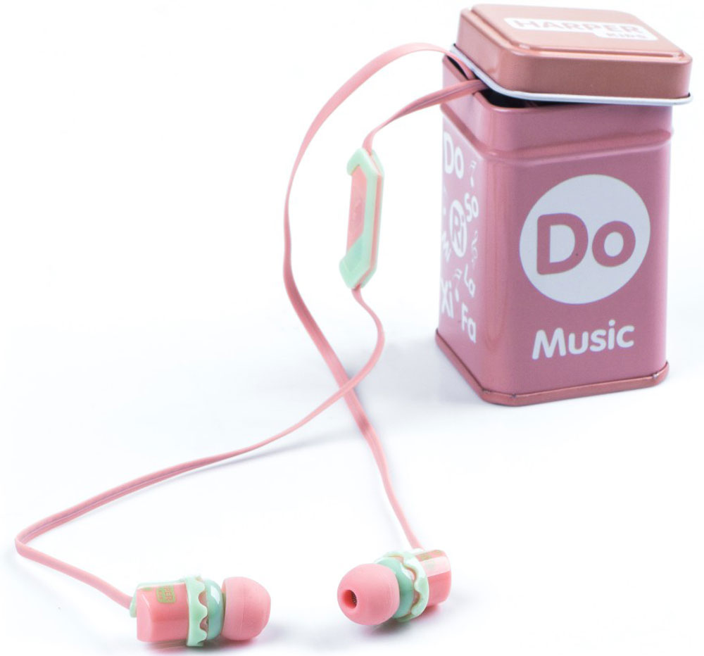 Harper Kids HK-66, Pink наушники00-00001210Наушники-вкладыши Harper Kids HK-66 перекрывают весь спектр слышимых человеческим ухом звуковых частот (они работают в диапазоне от 17 до 21 000 Гц). Это позволяет наслаждаться любимой музыкой даже тем, кто предъявляет повышенные требования к качеству звука.Встроенный микрофон превращает наушники Harper HK-66 в телефонную гарнитуру - ответ на звонок или завершение вызова производится при помощи кнопки на проводе наушников.Твердый футляр прямоугольной формы поставляется в комплекте с наушниками. В нем они не подвергаются негативному воздействию окружающей среды (не пылятся, не намокают, не запутываются в других вещах, как это бывает при переноске в сумочке или кармане).Яркие цветовые решения наушников и футляров делают этот аксессуар стильным и оригинальным дополнением к любой одежде, причем носить их могут как взрослые, так и дети.Одна единственная кнопка, которой оснащены наушники, выполняет сразу несколько функций: позволяет принимать/завершать звонки, перематывать и переключать треки, воспроизводить музыку, ставить трек на паузу.