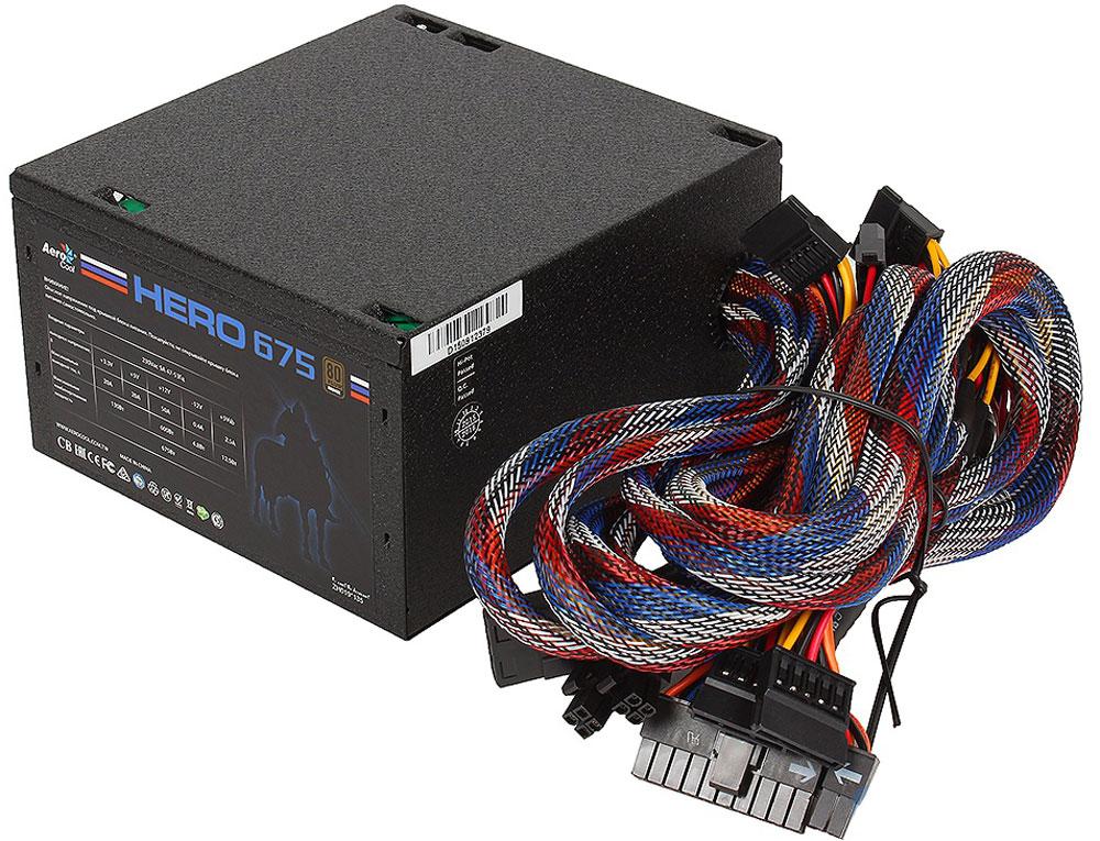 Aerocool HERO 675 блок питания для компьютера4713105957013Aerocool HERO 675 - надежный и долговечный блок питания, предназначенныйдля установки в стандартные персональные компьютеры и для подключения к электрической сети 220-240 В.Блок питания оборудован бесшумной системой охлаждения активного типа, что делает устройство особенно привлекательным для приобретения. Размер вентиляторов составляет 12х12 см. Форм-фактор самого устройства – ATX.Конструкция предусматривает большое количество разъемов для подсоединения других комплектующих для персонального компьютера. Устройство имеет шесть разъемов для подключения жестких дисков, один разъем для подключения питания процессора и два – для питания видеокарты. Мощность агрегата составляет внушительные 675 Вт, что дает прибору возможность безукоризненно справляться с выполнением всех задач.