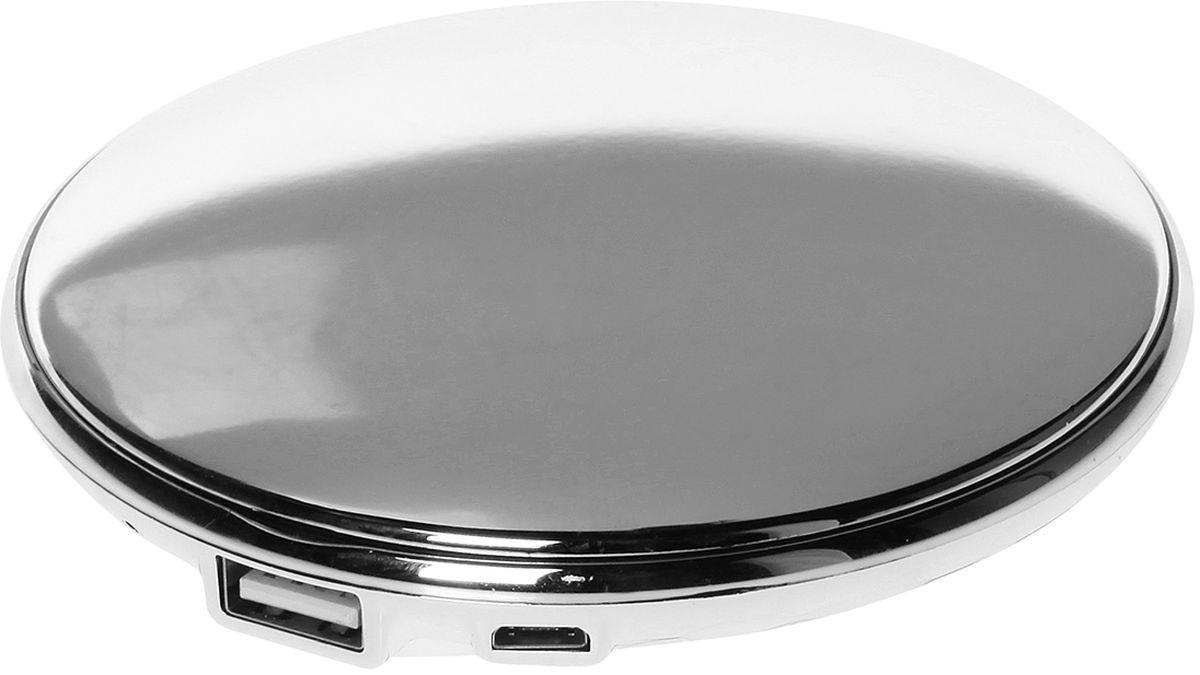 Qumo PowerAid Charm внешний аккумулятор21657Внешний аккумулятор Qumo PowerAid Charm, емкостью 3000 мА-ч выполнен в корпусе в форме пудренницы и предназначен для женщин как удобный и стильный аксессуар, предназначенный для подзарядки портативных устройств. Удобный, функциональный и компактный, не занимает много места и удобен в применении.