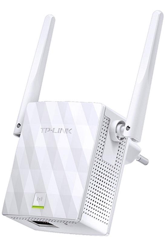 TP-Link TL-WA855RE усилитель беспроводного сигналаTL-WA855REНесмотря на компактный размер TP-LinkTL-WA855RE не останется незамеченным благодаря его впечатляющим возможностям передавать Wi-Fi в ранее недоступных частях вашего дома. TL-WA855RE поддерживает скорость Wi-Fi до 300 Мбит/с и позволяет вашим устройствам работать на максимальной скорости.Две внешние MIMO-антенны выделяют TP-LinkTL-WA855RE от прочих устройств. Технология MIMO способна улучшить производительность сети, увеличивая скорость Wi-Fi ,а две антенны обеспечат стабильный беспроводной сигнал, который достигнет каждого уголка вашего дома.Нажмите кнопку WPS на маршрутизаторе, после чего нажмите кнопку Range Extender на TL-WA855RE, чтобы воспользоваться быстрой расширенной сети Wi-Fi.Умный светодиодный индикатор подскажет наиболее подходящее место для размещения устройства.