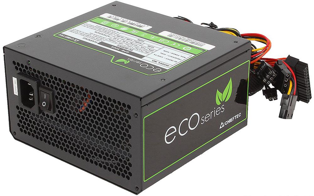 Chieftec GPE-500S блок питания для компьютера4710713234185Блок питания Chieftec GPE-500S относится к серии ECO, что открывает новую эпоху развития источников питания для ПК и отвечает самым современным европейским директивам энергоэффективности и охраны окружающей среды.В отличие от большинства конкурентов, данный блок ориентирован на фиксированное напряжение 230В в электрических сетях, имеет сертификат TUV и отвечает всем действующим стандартам качества ЕС (в том числе ENERGY STAR 5.0), что позволяют ему стать надёжным и эффективным компаньоном для современных ИТ-структур.