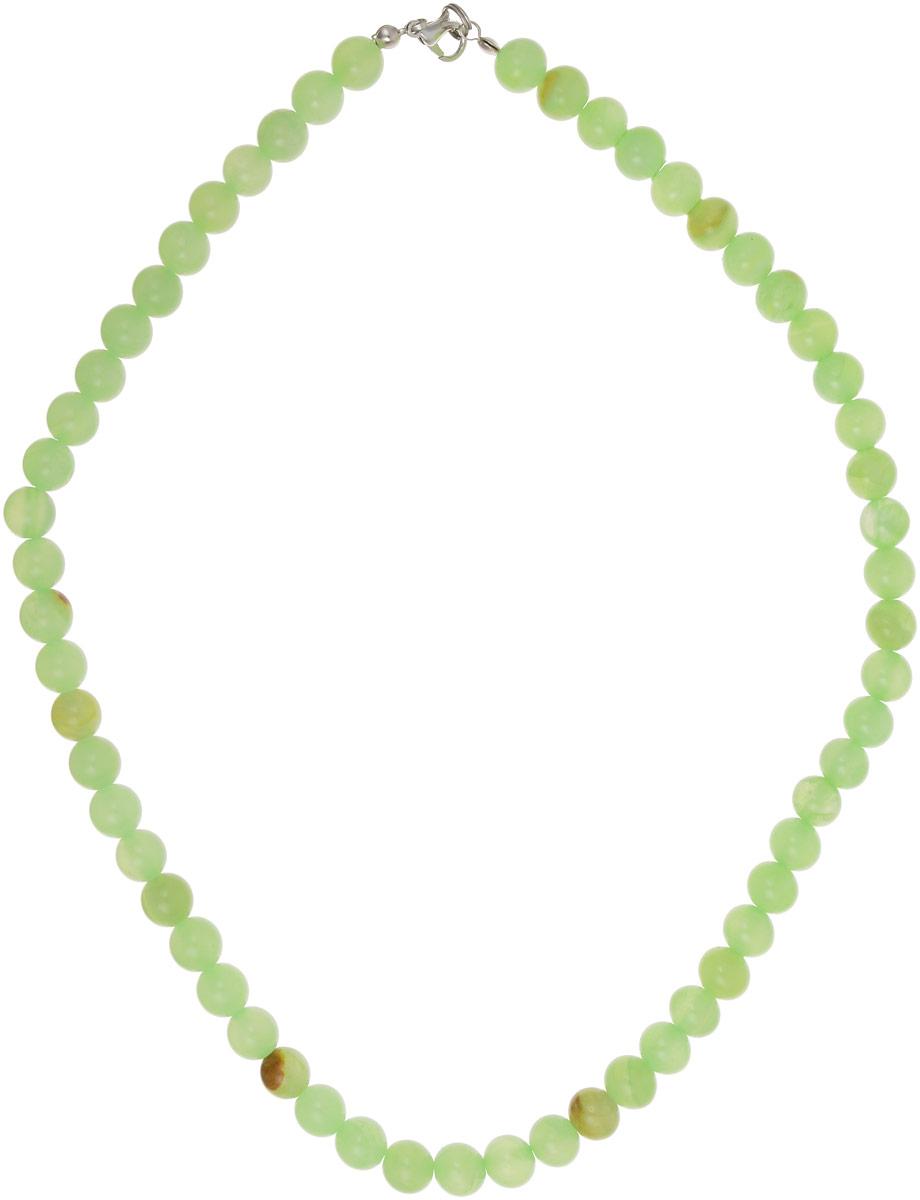 Бусы Револю Классика № 8, цвет: зеленый. НОН-1(8)-45-1Колье (короткие одноярусные бусы)Великолепный оникс - это камень элегантный, изысканный! Ониксовые украшения - это не просто хорошенькие вещички, это кредо, это образ мышления! Желаете ли вы выглядеть урождённой леди в любой ситуации, быть всегда прекрасной и стильной? Самое простое решение - это всегда носить чудесные изделия из оникса!