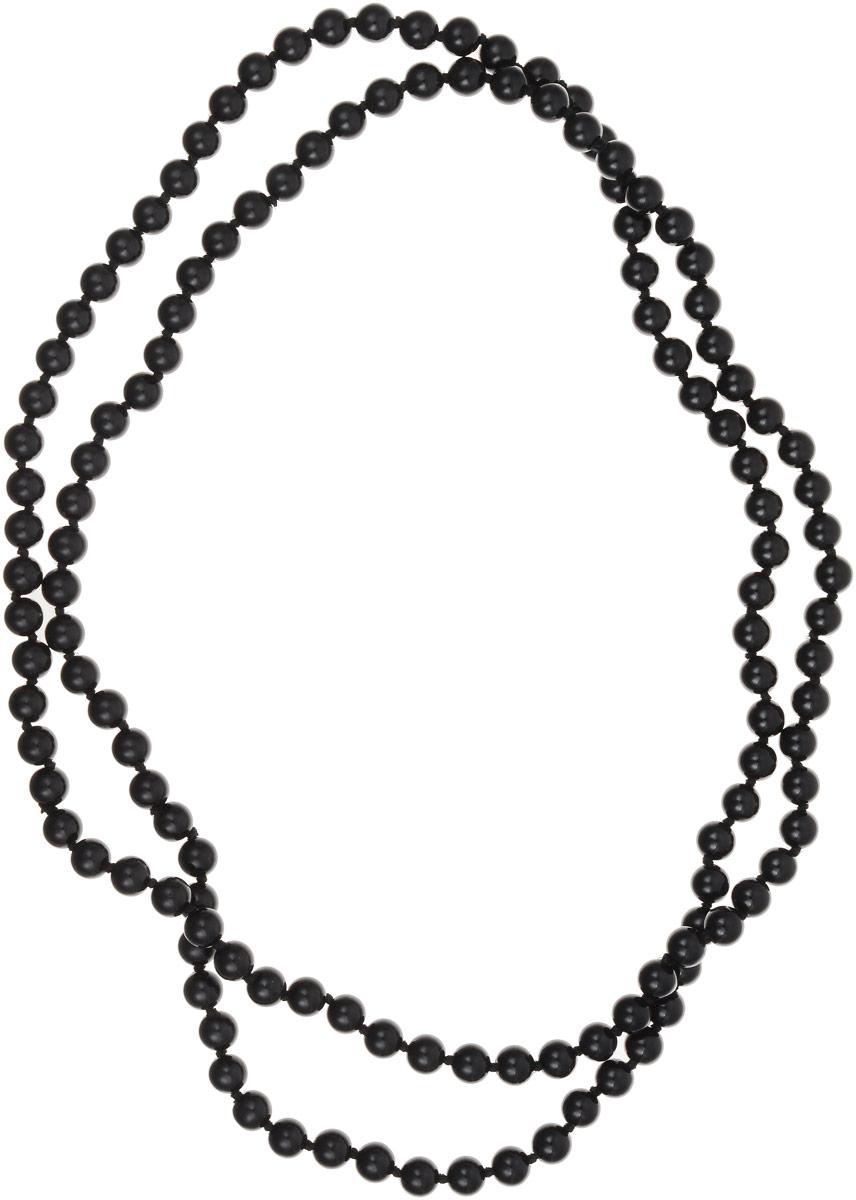 Бусы Револю Классика № 8, цвет: черный. ИАГ-1(8)-120-4Колье (короткие одноярусные бусы)Цветные агаты выглядят в украшениях интригующе! Прозрачные их слои чередуются с непрозрачными, отчего кажется, будто волшебные агаты знают какую-то тайну! Окружите свой образ чарующим сиянием волшебства - примерьте это диковинное украшение с невероятными агатами!