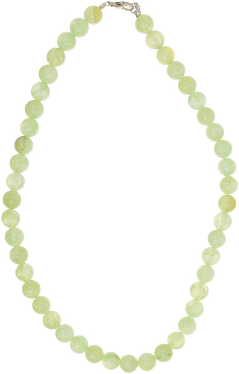 Бусы Револю Классика № 10, цвет: зеленый. НОН-1(10)-45-1Колье (короткие одноярусные бусы)Бусы круглые из оникса. Диаметр бусины 10 мм, длина бус 45 см. О, какая прелесть и свежесть! Милые бусы из оникса словно составлены из крохотных яблочек! Зеленоватые и светлые коричневые бусины прозрачны, словно спелые плоды, и наполнены сочной свежестью, характерной исключительно нежному зелёному цвету!Эти бусы великолепно впишутся в любой ансамбль нарядного платья или костюма, привнеся в него нежности и весенней свежести, но могут быть и прекрасным компаньоном для скромных и сдержанных рабочих нарядом светлых оттенков серого, коричневого