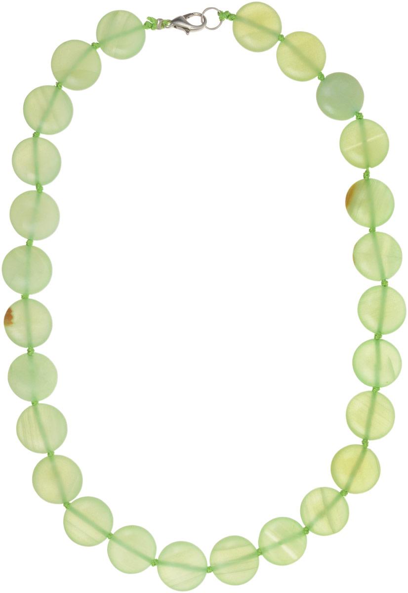 Бусы Револю Рондо, цвет: зеленый. НОН-11(15)-45-1Колье (короткие одноярусные бусы)Великолепный оникс - это камень нарядный, изысканный! Ониксовые украшения - это не просто хорошенькие вещички, это стиль, это образ жизни! Желаете ли вы выглядеть урождённой принцессой в любой ситуации, быть всегда прекрасной и стильной? Самое простое решение - это всегда носить чудесные изделия из оникса!