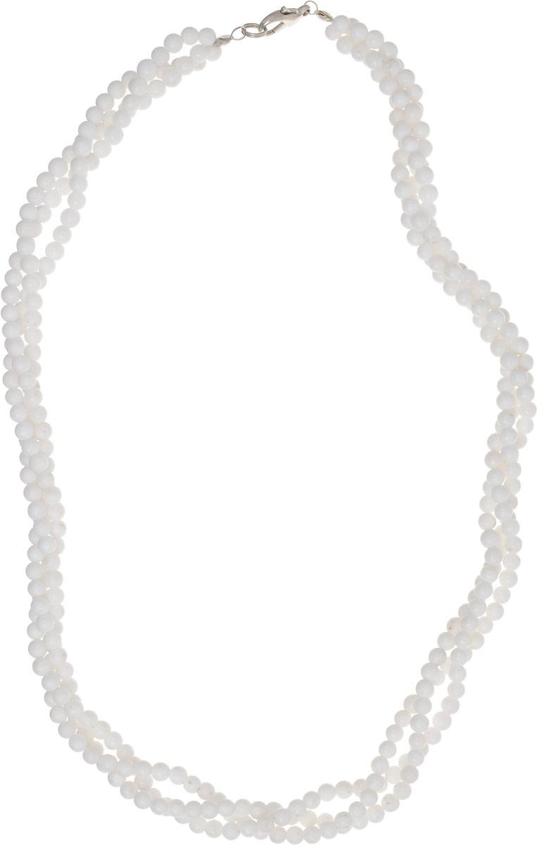 Бусы Револю Лиана, цвет: белый. НКХ-58(4)-48-1Колье (короткие одноярусные бусы)Снежный кахолонг - любимец красавиц всего Востока! Он считается одним из счастливых талисманов, но в нём есть и ещё одно свойство - он изумительно смотрится в ювелирных украшениях! Светлый и романтичный, прекрасный кахолонг наполняет образ свежестью и очарованием сияющей юности!