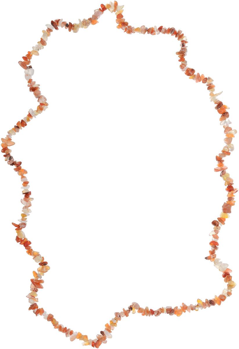 Бусы Револю Забава 2, цвет: оранжевый. НСР-75-90-4Колье (короткие одноярусные бусы)Солнечный сердолик выглядит так притягательно и игриво! Каждое сердоликовое украшение дарит сердцу радость, а вам - удивительную красоту! Нарядные и выразительные цвета тёплого сердолика придают каждой женщине на редкость чарующий вид - перед такой красотой растает лёд даже самого холодного мужского сердца!