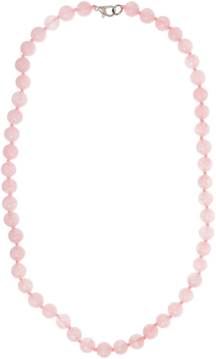 Бусы Револю Классика № 8, цвет: розовый. НКР-1(8)-48-1уКолье (короткие одноярусные бусы)Прелесть, не правда ли?! Розовые бусинки небольшой величины кажутся особенно яркими на тёмном фоне! Даже такие простые классические бусы из розового кварца - невероятно нарядное украшение! Их можно носить с любым платьем, с любым костюмом - они сделают вас невероятно женственной, свежей, моложавой, даже если вам уже давно не 19 лет! Можно носить эти бусы и на работу, но здесь будьте осторожны - розовый цвет нельзя отнести к цветам, помогающим в работе. Если вы руководитель, то для вас розовые бусы будут больше уместны только в обстановке торжеств