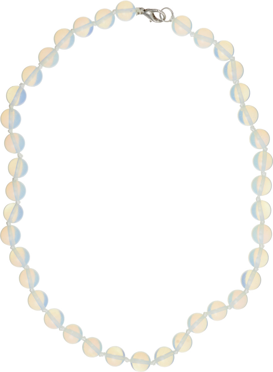 Бусы Револю Классика № 10, цвет: белый. НЛК-1(10)-45-1Колье (короткие одноярусные бусы)Загадочный лунный камень действительно кажется сотканным только из света - он так маняще блестит и переливается! Его невесомое сияние придаёт вашему облику особенную утончённость и таинственность! Волшебные украшения из бесподобного лунного камня - это секрет вашего обаяния, загадка вашей прелести!