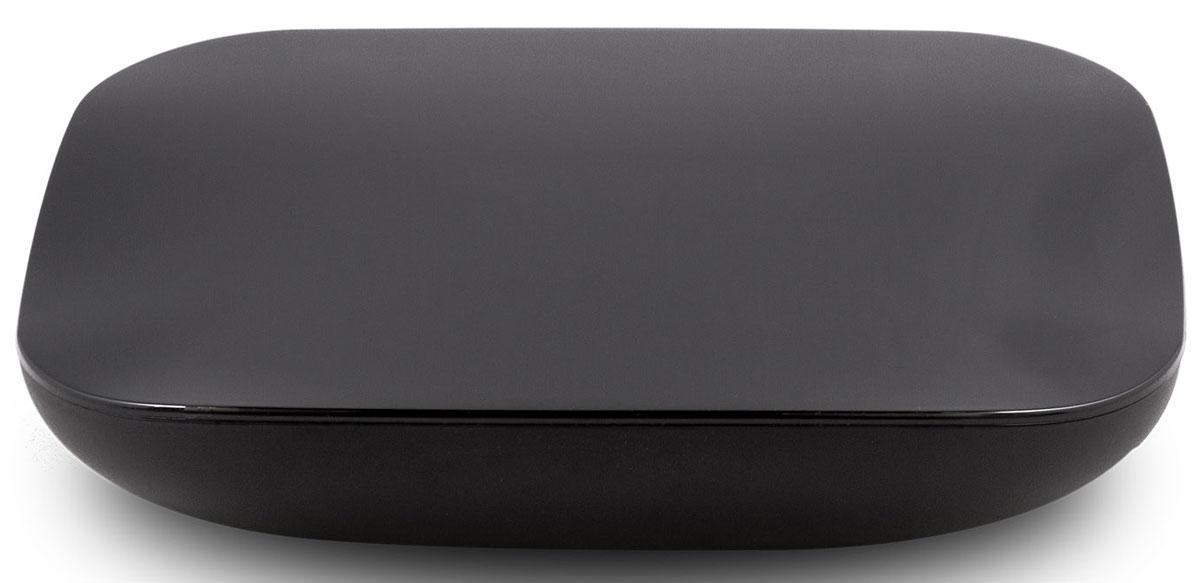Rombica Smart Box Quad T2 v001 медиаплеерSBQ-T2805Rombica Smart Box Quad T2 v001 - медиаплеер со встроенным Wi-Fi модулем, работающий под управлением операционной системы Android 4.4. В основе устройства - четырехъядерный процессор ARM Cortex с частотой 1.5 ГГц с графическим ядром ARM Mali-450. Имеет встроенный DVB-T2 тюнер для просмотра и записи ТВ передач.Плеер оснащен разъемом USB с поддержкой USB Flash носителей и жестких дисков до 2 ТБ включительно. Он полностью поддерживает воспроизведение подавляющего большинства мультимедийных файлов. Удобный настраиваемый мультимедиа интерфейс Rombica Launcher позволяет легко добавить или убрать иконки сервисов и приложений. Оптимален для управления классическим пультом ДУ.Знакомый рабочий стол Android: минимальное время на освоение, максимум результата и радости от любимых приложений.Полноценный доступ в Google Play Market - играйте в любимые Android-игры на экране вашего ТВ. Также к вашим услугам множество популярных и полезных приложений, отличные фильмы, музыка, книги и свежая пресса.Встроенные приложения онлайн-кинотеатров IVI, Megogo, TVzavr, Youtube и другие. Наслаждайтесь любимыми фильмами и сериалами в отличном качестве.