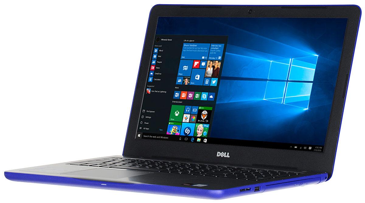 Dell Inspiron 5567-7959, Blue5567-7959Производительный процессор шестого поколения Intel Core i3, стильный дизайн и цвета на любой вкус - ноутбук Dell Inspiron 5567 - это идеальный мобильный помощник в любом месте и в любое время. Безупречное сочетание современных технологий и неповторимого стиля подарит новые яркие впечатления.Сделайте Dell Inspiron 5567 своим узлом связи. Поддерживать связь с друзьями и родственниками никогда не было так просто благодаря надежному WiFi-соединению и Bluetooth, встроенной HD веб-камере высокой четкости, ПО Skype и 15,6-дюймовому экрану, позволяющему почувствовать себя лицом к лицу с близкими.15,6-дюймовый экран с разрешением HD ноутбука Dell Inspiron оживляет происходящее на экране, где бы вы ни были. Вы можете еще более усилить впечатление, подключив телевизор или монитор с поддержкой HDMI через соответствующий порт. Возможно, вам больше не захочется покупать билеты в кино.Выделенный графический адаптер AMD RadeonR7 M440 позволяет выполнять ресурсоемкие процедуры редактирования фотографий и видеороликов без снижения производительности.Смотрите фильмы с DVD-дисков, записывайте компакт-диски или быстро загружайте системное программное обеспечение и приложения на свой компьютер с помощью внутреннего дисковода оптических дисков.Точные характеристики зависят от модели.Ноутбук сертифицирован EAC и имеет русифицированную клавиатуру и Руководство пользователя.