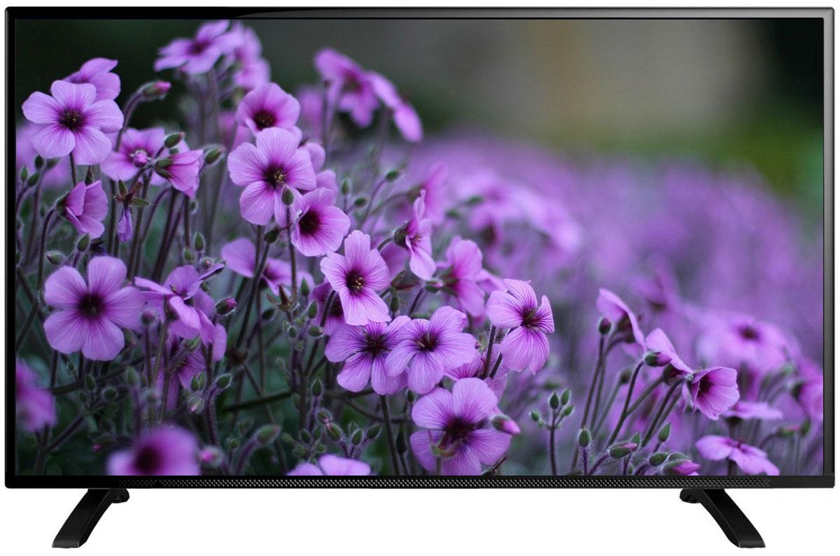 Erisson 58 LES 76 T2 телевизор58LES76T2Телевизор Erisson 58 LES 76 T2 оборудован Edge LED подсветкой и поддерживает разрешение Full HD (1920x1080). Оснащен системой динамиков 2.0, выдающих звук общей мощностью 16 Вт. Источником сигнала для качественной реалистичной картинки служат не только цифровые эфирные и кабельные каналы, но и любые записи с внешних носителей, благодаря универсальному встроенному USB медиаплееру. Телевизор поддерживает все популярные форматы, включая MKV, MP3, MPEG (AVI), JPEG. Устройство можно расположить как на столе, так и на настенном кронштейне, который приобретается отдельно.