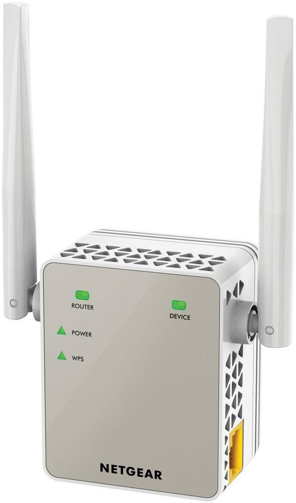 Netgear EX6120-100PES повторитель беспроводного сигналаEX6120-100PESПовторитель беспроводного сигнала Netgear EX6120-100PES увеличит зону покрытия вашей существующей WiFi сети, обеспечив двухдиапазонный WiFi сигнал на скорости до 1200 Мбит/с.Устройство работает со всеми стандартными WiFi роутерами и идеально подходит для передачи потокового HD-видео и он-лайн игр. Этот усилитель очень компактный и подключается к настенной розетке. Обеспечьте стабильное подключение ваших мобильных устройств в любом уголке дома.Режим усилителя для расширения существующей WiFi сети. Режим точки доступа для создания новой зоны WiFi АС стандарта.Используйте 2 частотных диапазона, чтобы добиться суперскоростного соединения. Идеальное решение для потокового видео и онлайн игр.Подключайте к своей WiFi-сети проводные устройства, такие как игровая приставка, телевизор или медиаплеер.Компактный и незаметный усилитель Netgear EX6120-100PES, подключающийся к настенной розетке, легко впишется в домашнюю обстановку.