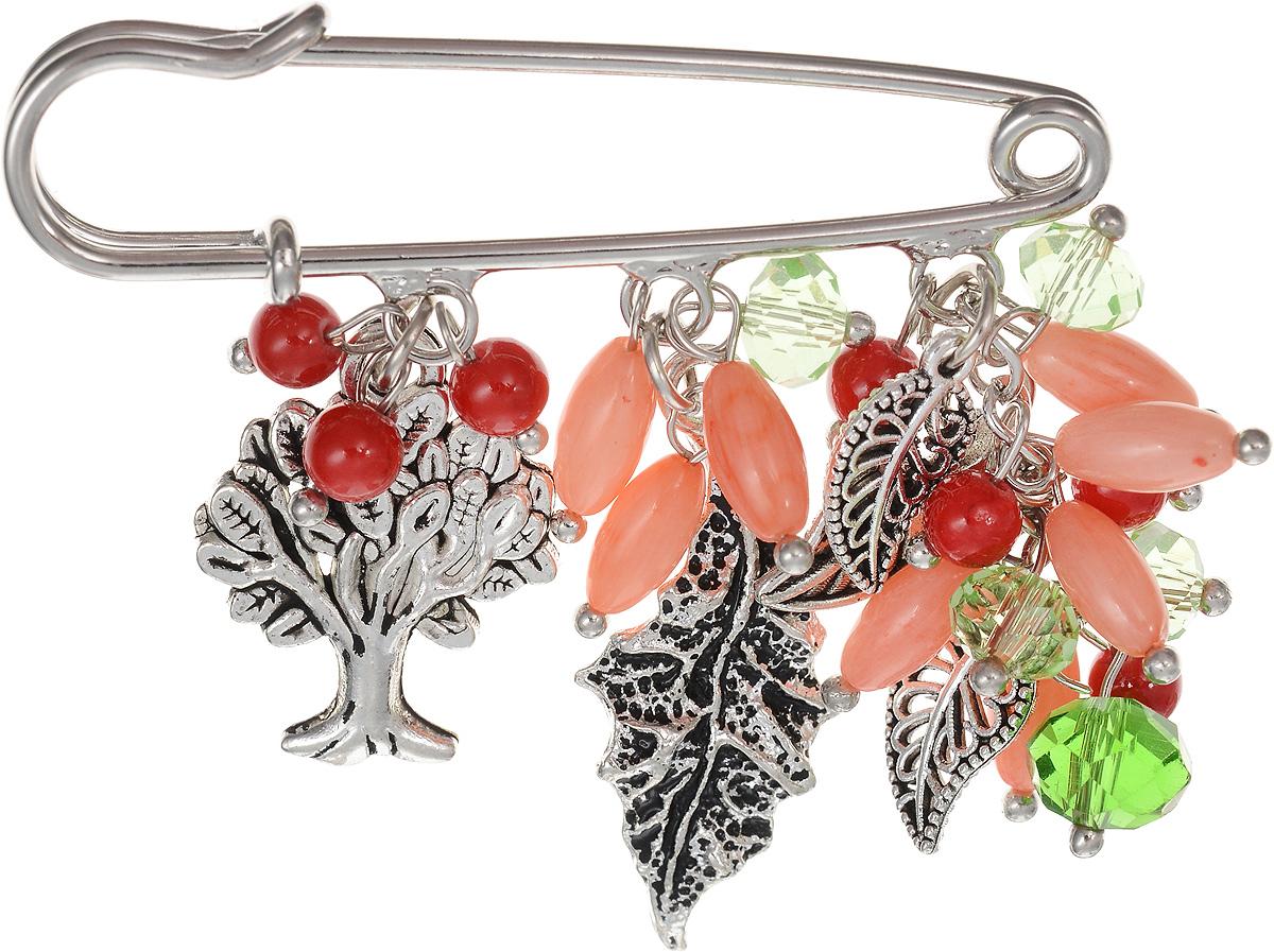 Брошь Револю Флорентина, цвет: розовый. БШкам-757Брошь-булавкаРазмер броши-булавки: 1,4 х 5,0 см. Размер с подвеской: 4,6 х 5,0 см. Прекрасный коралл - камень удивительный! Это ведь и не камень совсем, а органическое вещество - именно поэтому он такой приятный! С давних пор красивые морские кораллы считались великолепным украшением для женщин. Не пропала любовь к кораллам и сейчас - в нашем каталоге всегда большой выбор модных коралловых украшений!