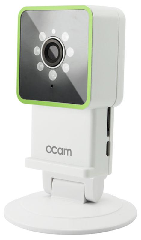 OCam-M3, Green IP-камераOCAM-M3+GreenС камерой OCam-M3 у вас появится возможность присмотреть за своим домом, маленьким ребенком, пожилыми людьми и даже домашним питомцем.Строгий дизайн и удобная для дома или офиса камера наблюдения. Инженеры предусмотрели различные сценарии использования камеры, поэтому пользователю доступны несколько режимов работы. Переключаться между ними можно в один клик. Записанные видеофайлы и фотографии сохраняются на карту памяти microSD. Когда возникает движение или звук, камера активирует системы распознавания, после чего вы сразу получите уведомление в виде звонка или письма на электронную почту.Благодаря инфракрасной подсветке вы получите четкое изображение даже в условиях плохого освещения. Широкий угол обзора в 120° дает больший охват получаемого изображения, поэтому вы сможете наблюдать, к примеру, не только за ребенком, но и за окружающей его обстановкой во всей комнате.Наличие встроенного микрофона и динамика позволяет вам общаться с помощью камеры OCam-M3 даже дистанционно.Установите фирменное приложение OCam App на ваше мобильное устройство, настройте его и менее чем через три минуты вы сможете вести наблюдение в режиме реального времени в высоком качестве изображения 720p.