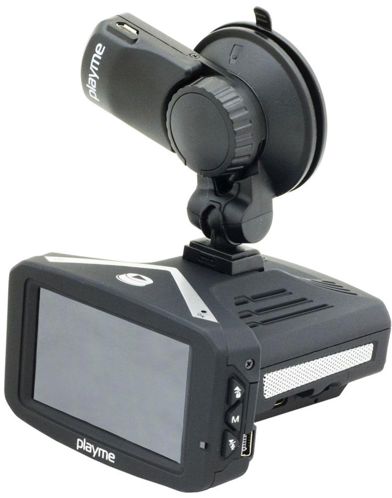 PlayMe P300 Tetra видеорегистратор с радар-детекторомPlayMe-P300PlayMe P300 Tetra - компактный, стильный, многофункциональный - видеорегистратор с радар-детектором на базе самого современного видеопроцессора Ambarella A7. Способен выполнять функционал сразу трех устройств, при этом каждое из них имеет максимальные технические характеристики и возможности.Приобретая PlayMe P300 Tetra, вы получаете мощнейший по уровню чувствительности радар-детектор, способный обнаруживать все радары и камеры ГИБДД на предельно возможном расстоянии. Пеленг во всех радиодиапазонах полиции, возможность отключения диапазонов срабатывания, переключение между режимами чувствительности прибора, голосовые подсказки на русском языке - всё это есть в арсенале данной модели.В качестве видеорегистратора эта модель ведет съемку в качестве Full HD, с углом обзора в 140 градусов. Хранение информации производится карту памяти micro SD объемом от 8 до 64 Гб. Общий дисплей диагональю 2,7 дюйма используется и радар-детектором, и видеорегистратором.В PlayMe P300 Tetra встроен GPS модуль, который служит в двух функциях. Первая - это GPS информатор, предупреждающий о стационарных камерах полиции, вторая - это трекинг пути, с помощью специального ПО вы сможете просмотреть на ПК координаты движения автомобиля и его скорость.