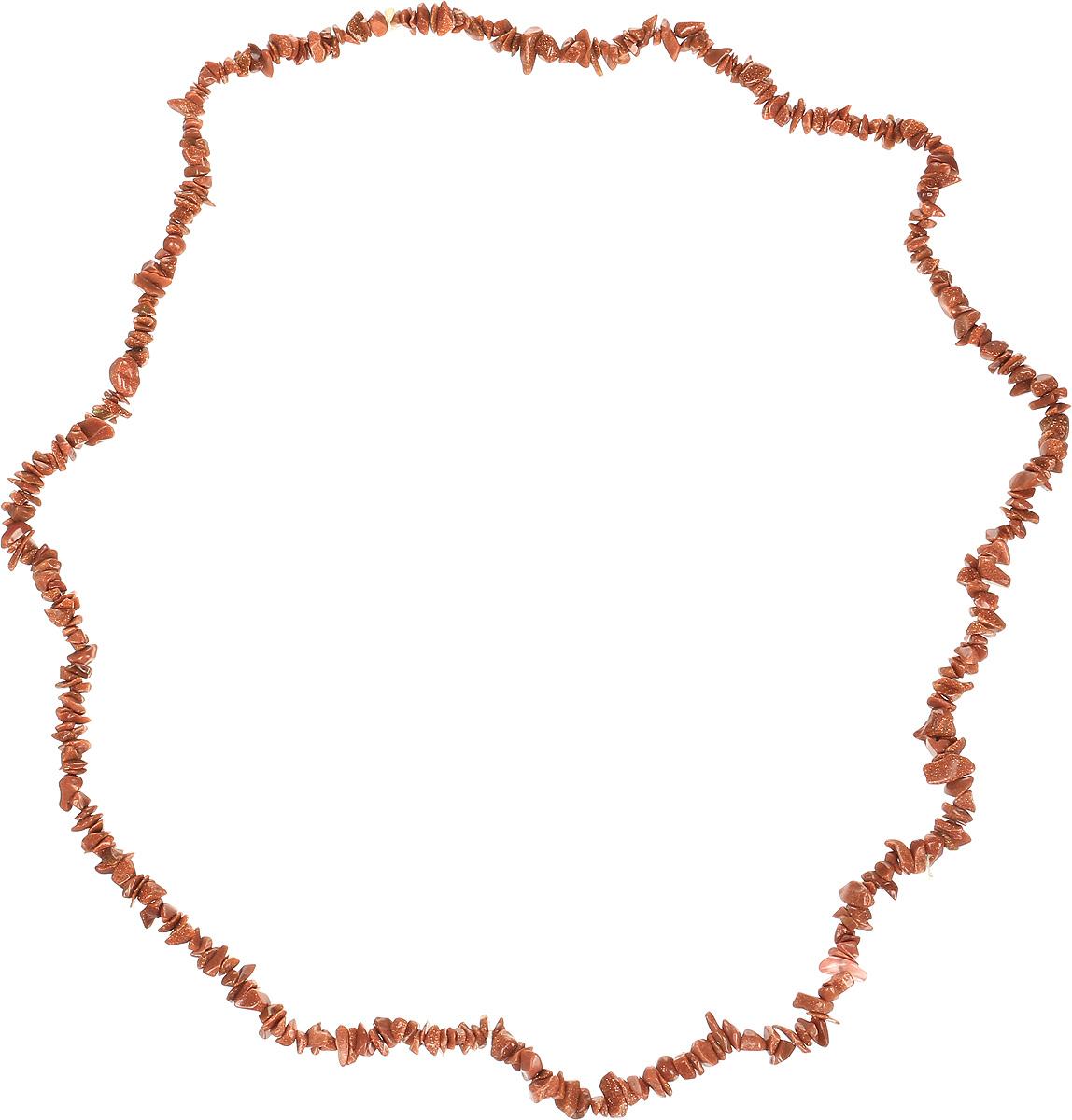 Бусы Револю Забава 2, цвет: коричневый. НАВ-75-90-1Колье (короткие одноярусные бусы)Авантюрин - камень, привлекающий деньги, достаток. Талисман для сохранения радостного настроения. Он дает владельцу глубину и эмоциональную чистоту. Предполагается, что в Европу натуральный авантюрин завезли торговцы индийскими драгоценными камнями, на собственном опыте убедившиеся в способности этого камня притягивать удачу. Обостряет все эмоции, делая их более тонкими, повышает оптимизм и уверенность в себе, дарует бодрость духа, ясность ума.