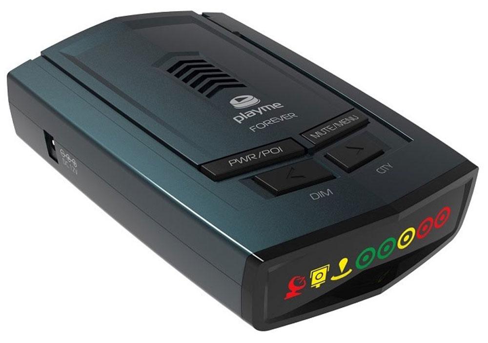 PlayMe Forever радар-детекторPlayMe-FOREVERРадар-детектор PlayMe Forever оснащен современным GPS с базой полицейских радаров.Благодаря GPS-модулю в этом радаре получилось реализовать Умный режим работы, в котором аппарат самостоятельно выбирает чувствительность, в зависимости от скорости вашего движения. Помимо этого, в модели есть ручные регулировки чувствительности, а именно режимы работы Трасса, Город 1, Город 2.PlayMe Forever оснащён высокоэффективным супергетеродинным приёмником с двойным преобразованием частоты, который позволяет получить максимальную дальность оповещения и максимально точно оповещать вас о камерах контроля скорости.Показания радар-детектора выводятся на информативный, символьный дисплей, а также в этом детекторе присутствуют голосовые оповещения на русском языке.