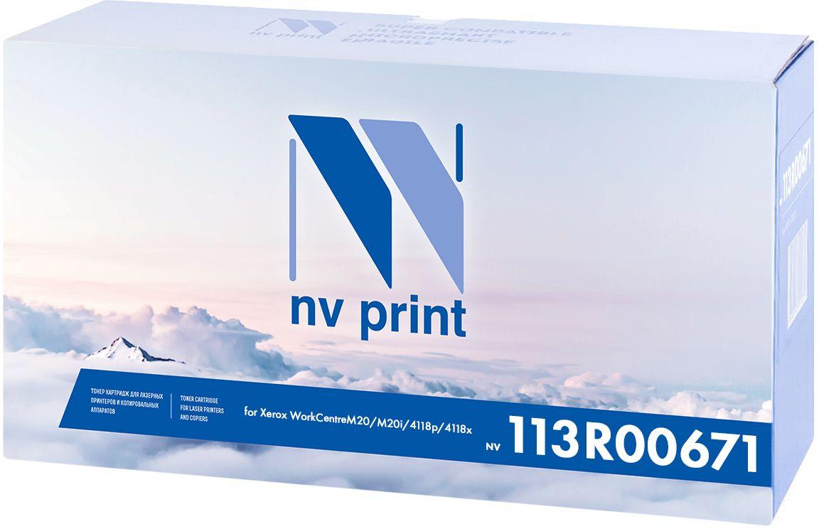 NV Print 113R00671, Black картридж для Xerox WorkCentre M20/M20i/4118p/4118хNV-113R00671Копи-картридж NVP лазерный совместимый Xerox, производитель NV Print, модель NV-113R00671 для Xerox WorkCentre M20/M20i/4118p/4118х, ресурс 20000 копий.