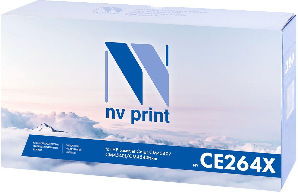 NV Print CE264X, Black картридж для HP LaserJet Color CM4540/CM4540f/CM4540NV-CE264XBkКартридж лазерный совместимый HP, производитель NV Print, модель NV-CE264X Black для НР LaserJet Color CM4540/CM4540f/CM4540fskm, ресурс 17000 копий.