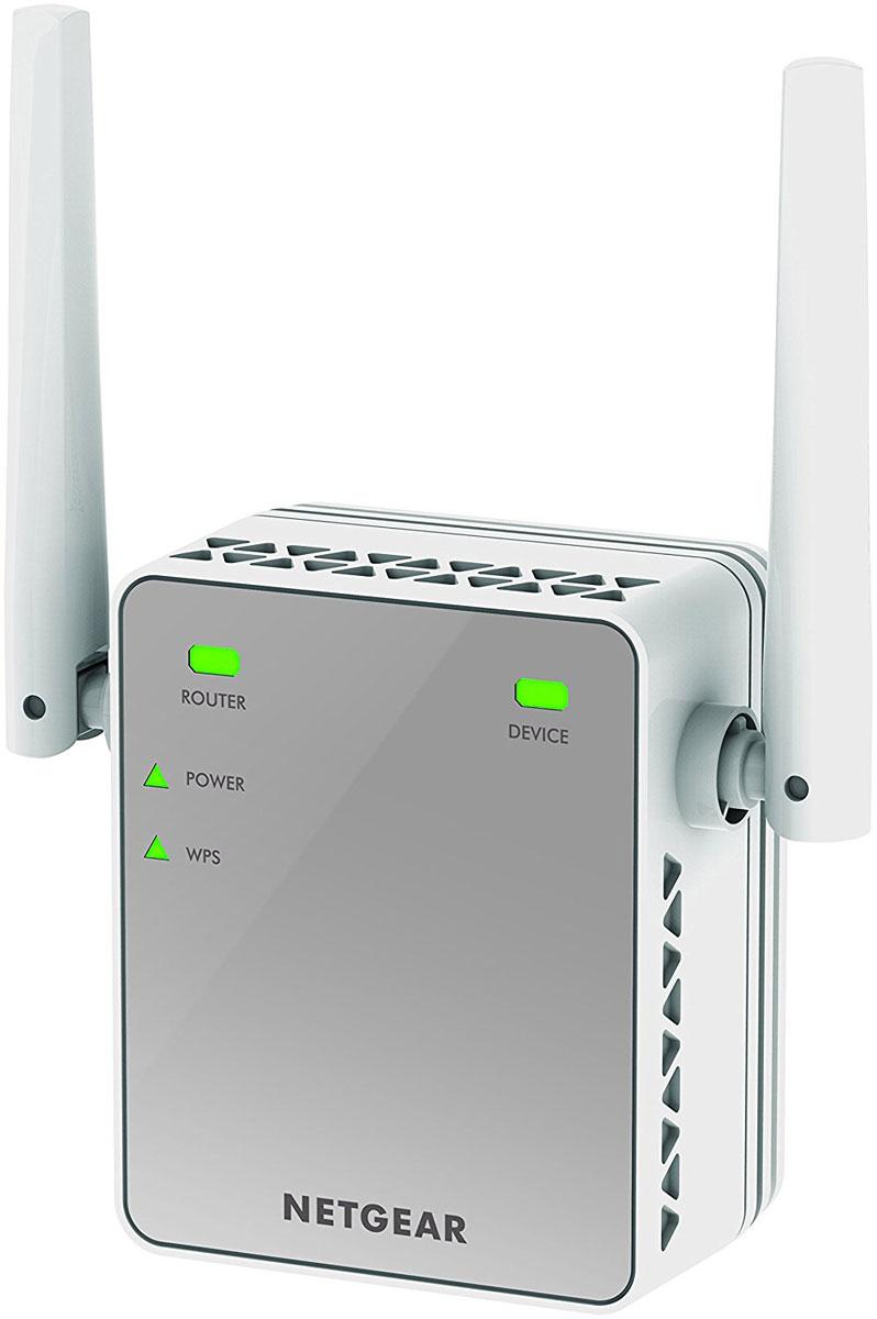 Netgear EX2700-100PES повторитель беспроводного сигналаEX2700-100PESПовторитель беспроводного сигнала Netgear EX2700-100PES увеличит зону покрытия вашей существующей WiFi сети. Внешние антенны увеличивают зону покрытия и скорость WiFi, а удобная конструкция с подключением к настенной розетке позволяет сэкономить место. Работает с любым стандартным WiFi-роутером и сохраняет стабильное подключение мобильных устройств при перемещении по дому.WiFi до 300 Мбит/сВнешние антенны для повышения эффективности работыУдобная конструкция, подключаемая к настенной розетке электросетиРаботает с любым WiFi-роутером