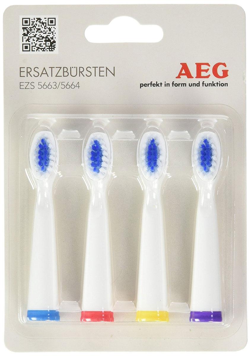 AEG EZS 5663/5664 запасные щетки для зубного центра AEG4er EZ 5663/5664Набор из четырех запасных насадок для электрической зубной щетки AEG EZS 5663/5664.